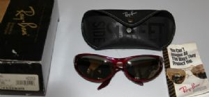 Ray Ban W2352 Side Street Skyline Black Gold with Gold mirror lens New Listing
